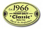 Distressed Aged Established 1966 Aged To Perfection Oval Design For Classic Car External Vinyl Car Sticker 120x80mm